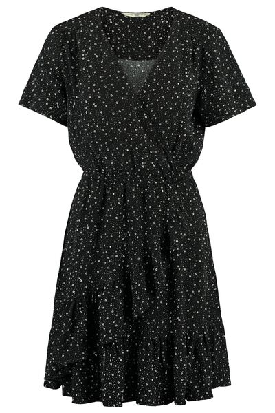 Dress all-over print V-neckline