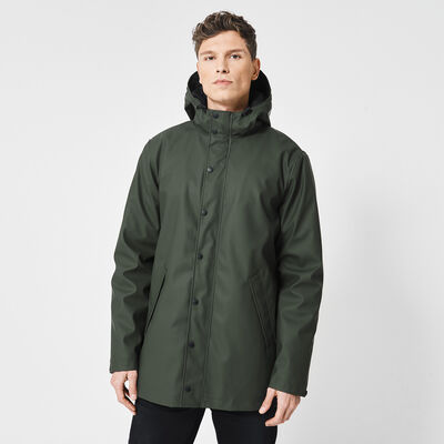 Raincoat made of recycled polyester