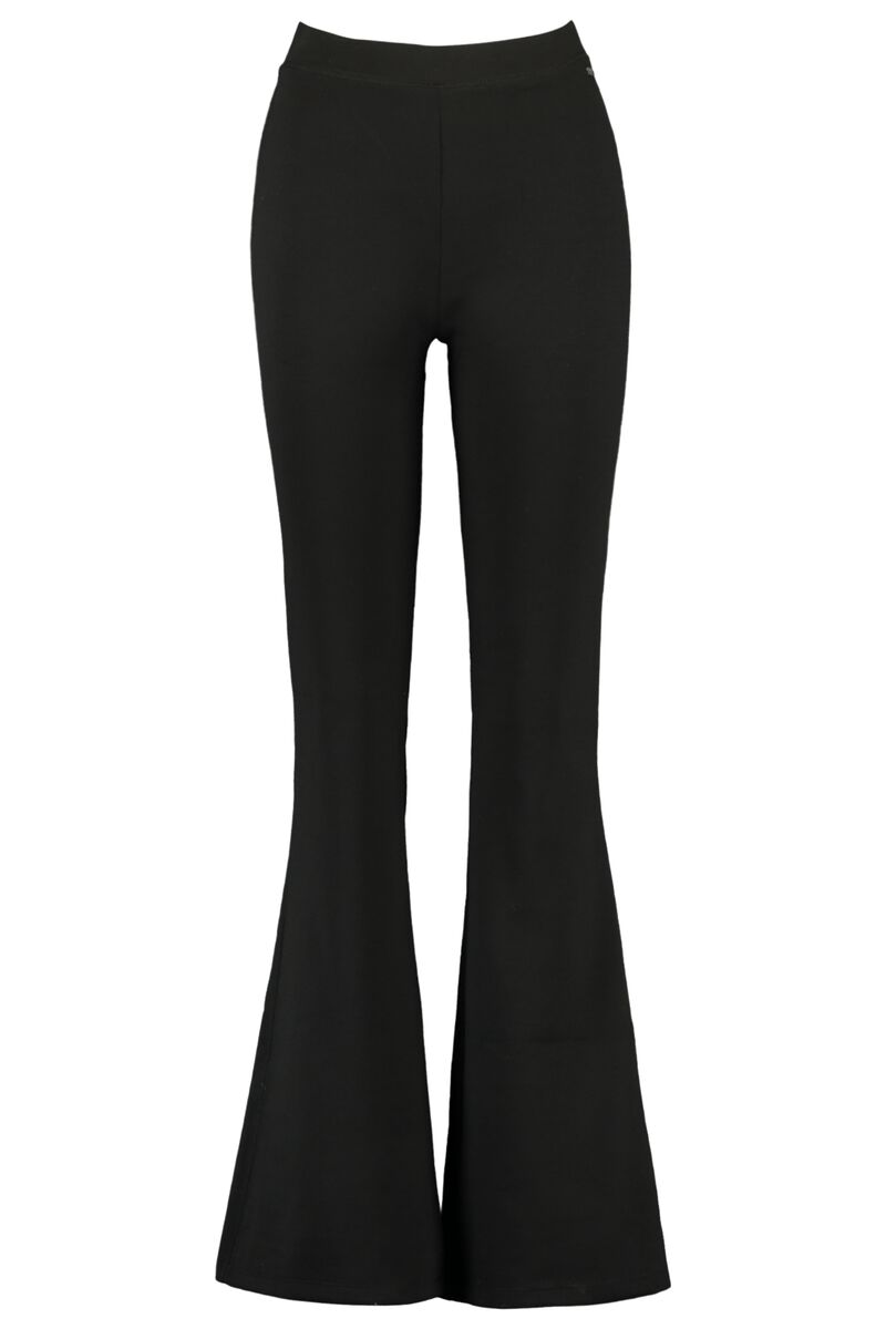 Flared pants Cindy solid black