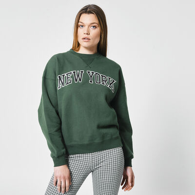 Sweater with text print