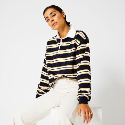 Polo shirt striped print