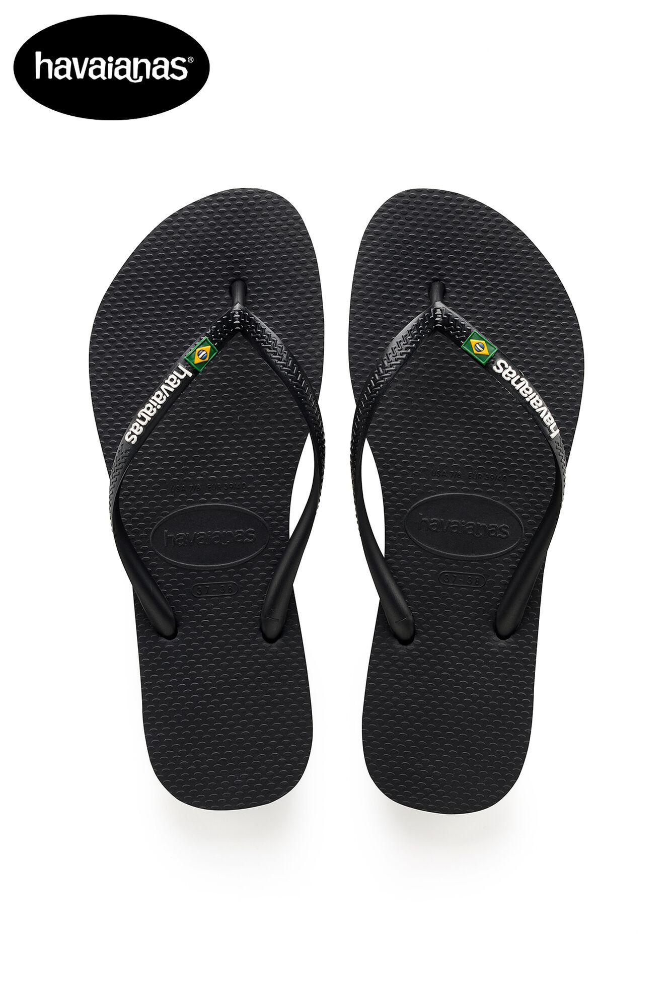 3c847cd4d Women Havaianas Slim Logo Brasil Black Buy Online