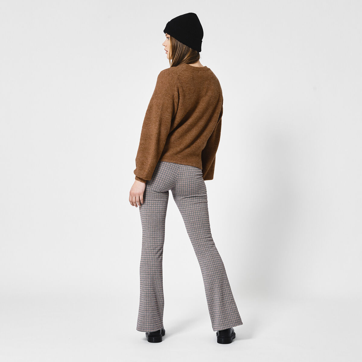 Flared pants Carola Check