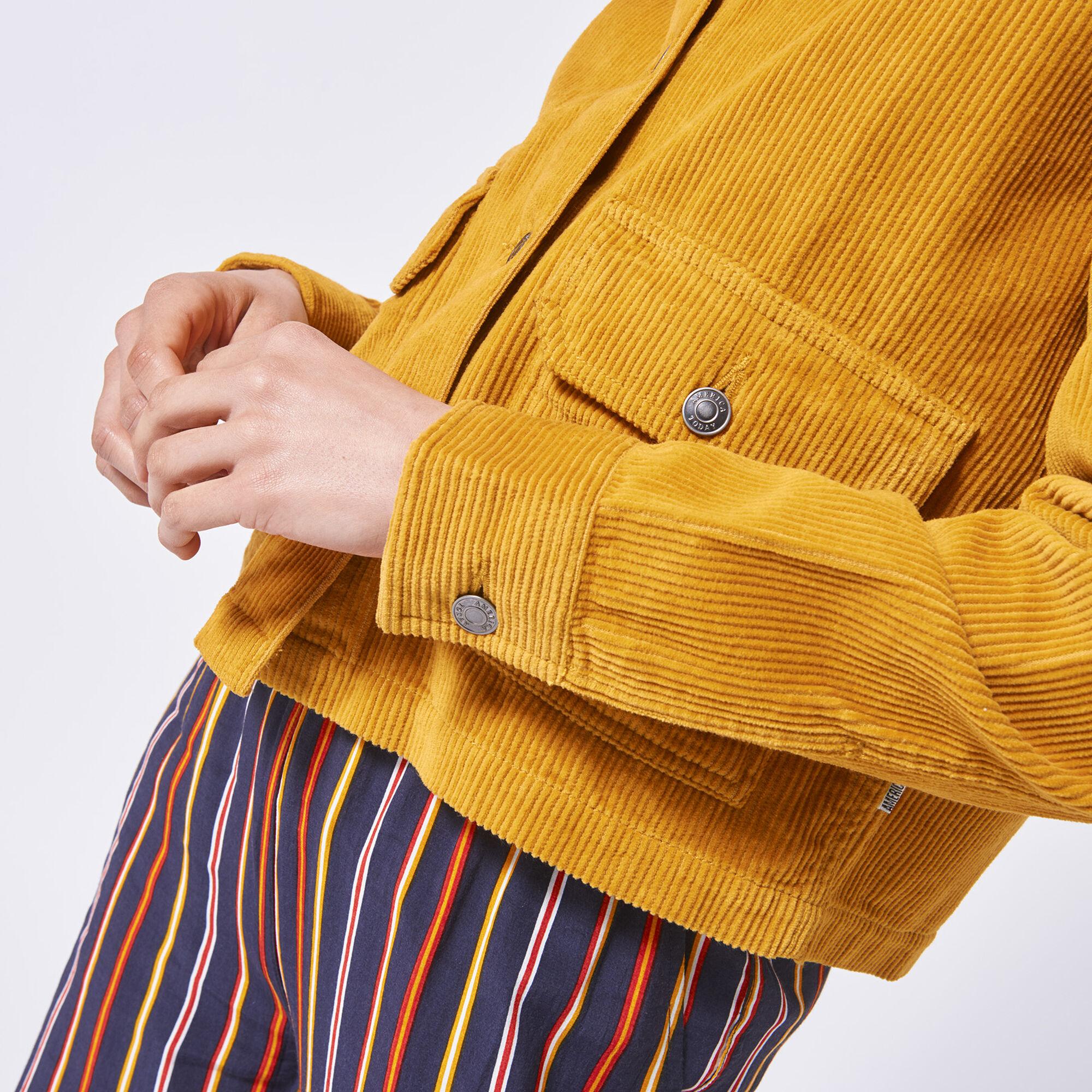 8b77fcd3a Women Corduroy Jacket Haya Yellow Buy Online