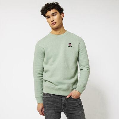 Sweater met ronde hals en borduring