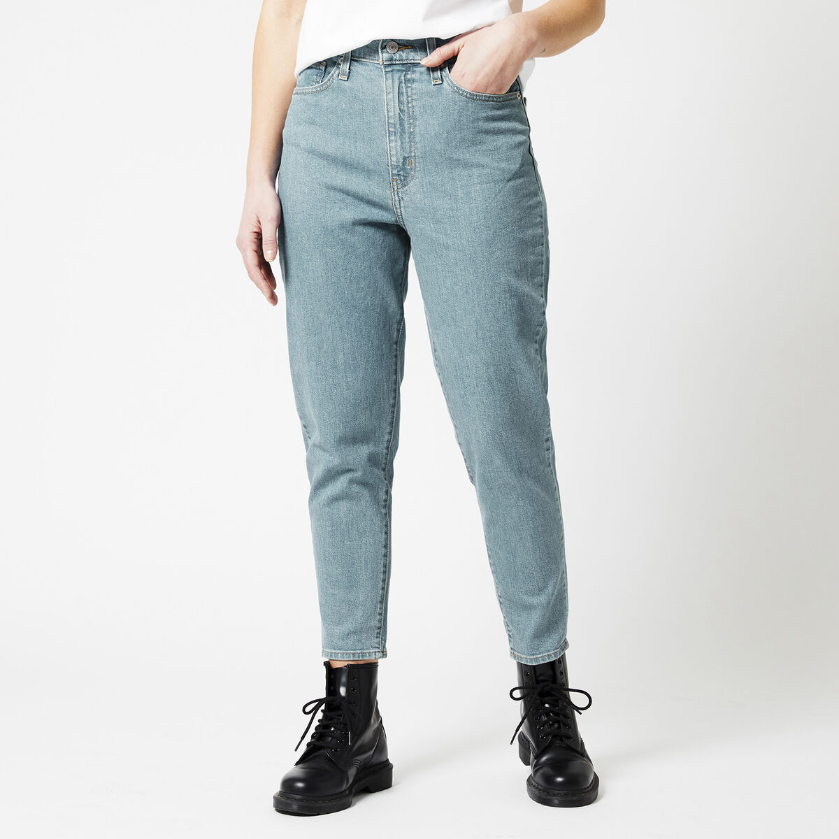 High waisted taper