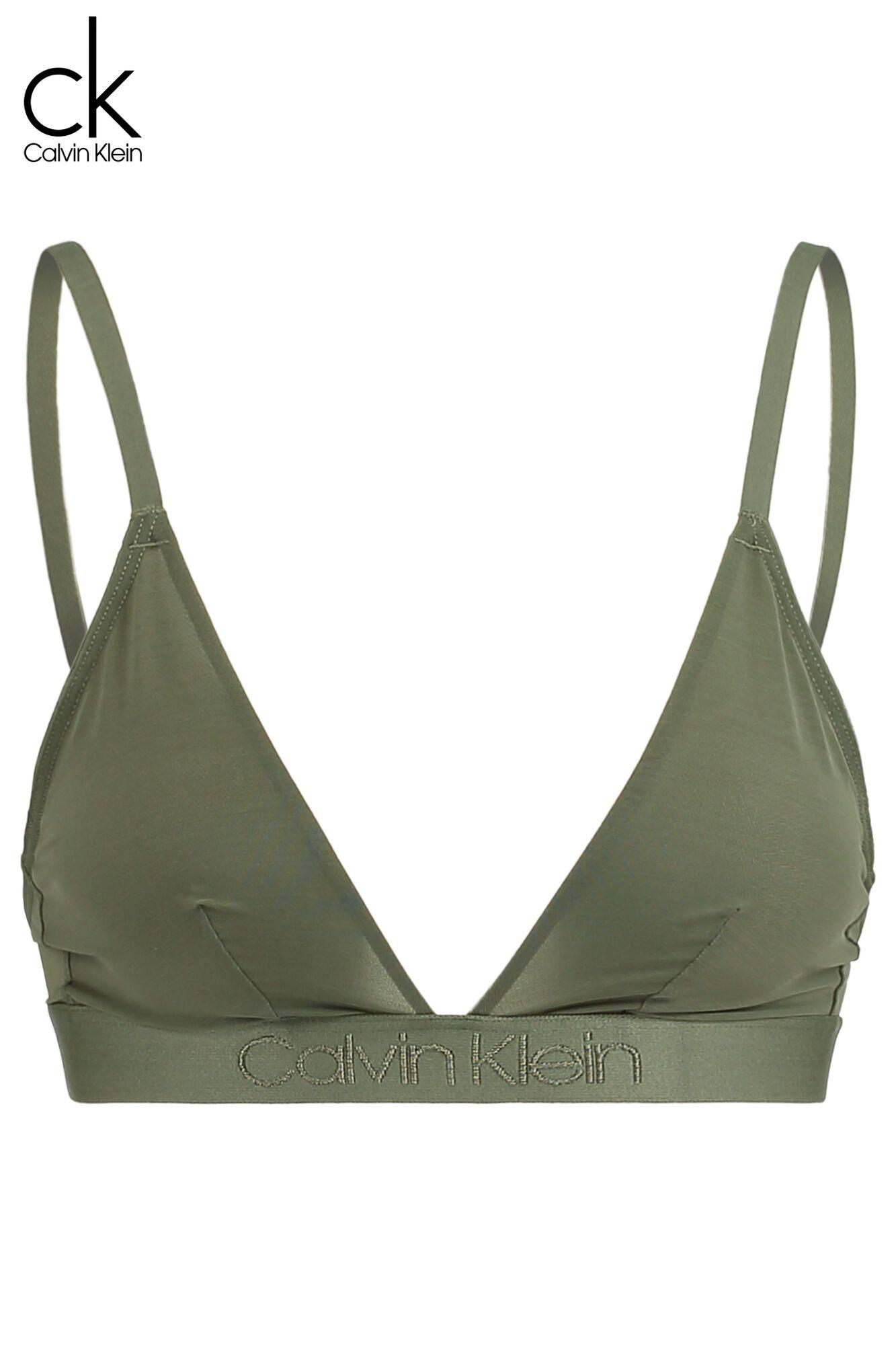 1e3fb2844e8660 Women Bralette Calvin Klein Unlined Triangle Green Buy Online