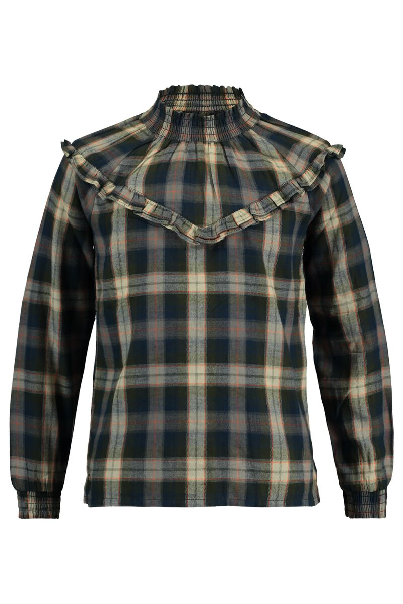 Blouse collar Bowdy check Jr.