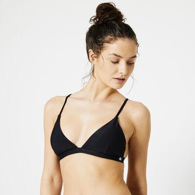 Bikinitop padded ribbed fabric