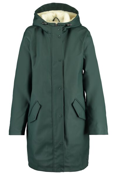 Rain jacket made of recycled polyester with teddy lining