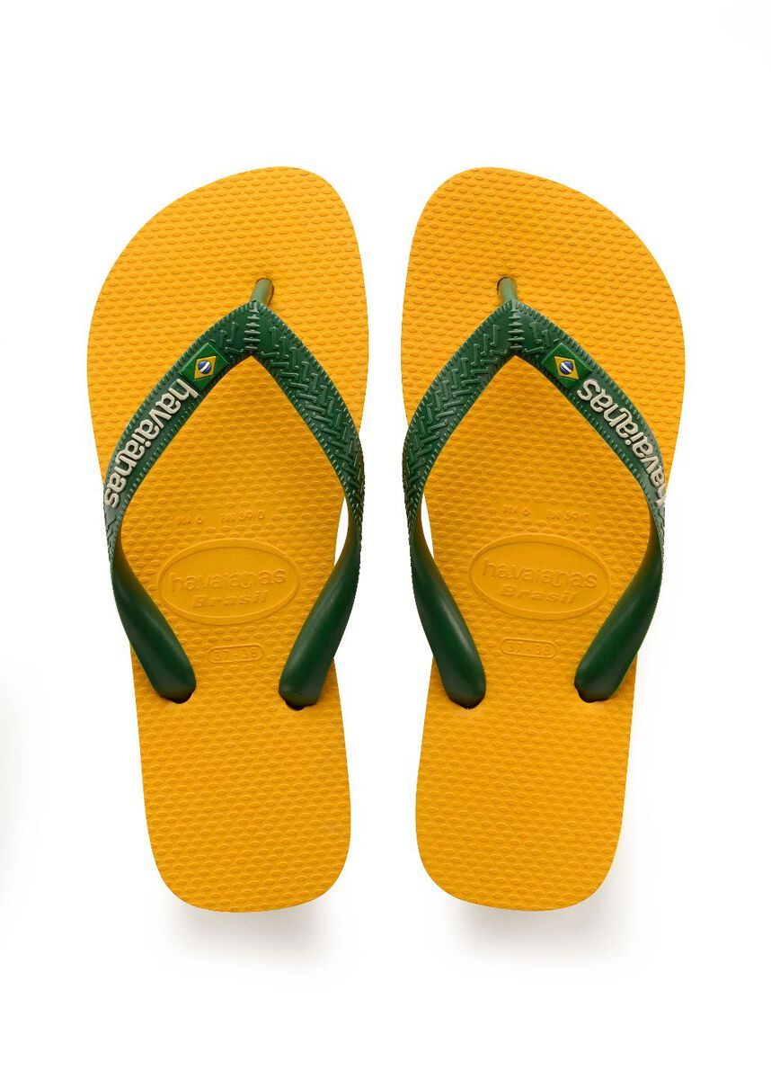 495a9e12b Men Havaianas Brasil Logo Yellow Buy Online