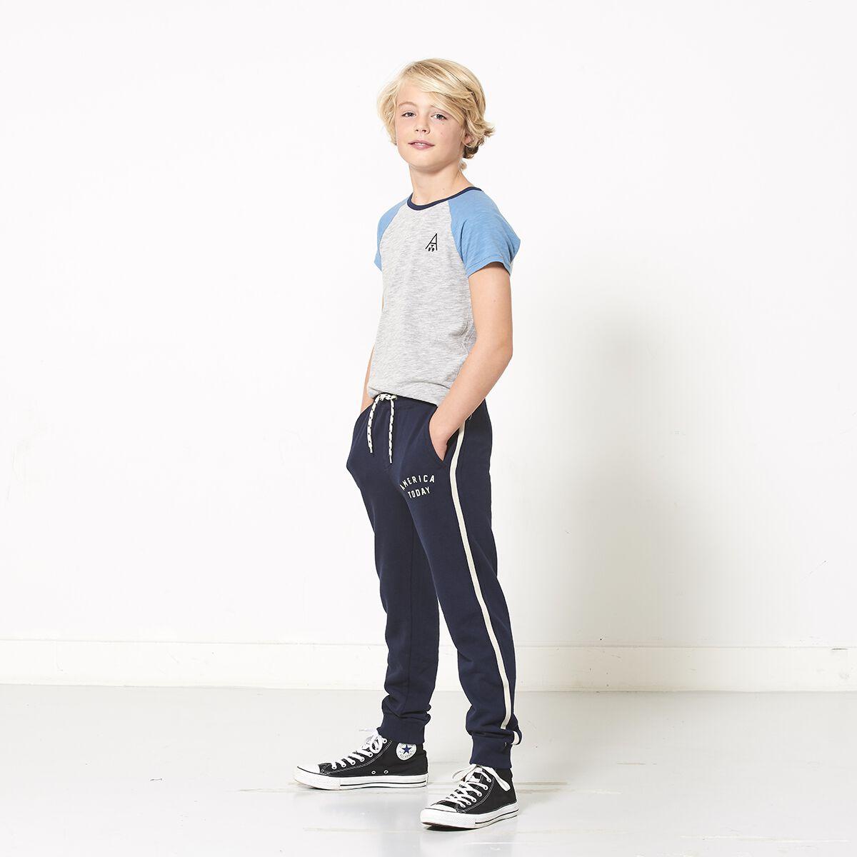 Joggingbroek Voor Jongens.Jongens Joggingbroek Calvin Blauw Kopen Online