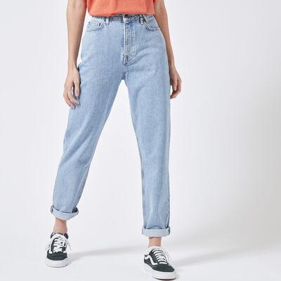 Mom jeans hoher Bund mit heller Waschung