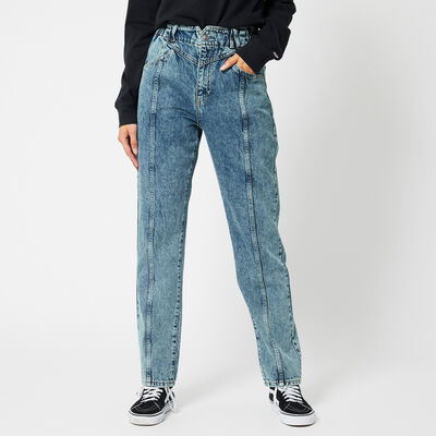 Mom jeans Taille haute à délavage clair