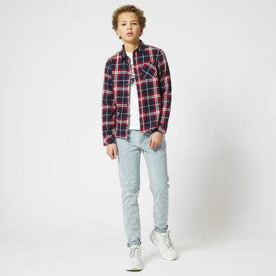 Shirt with plaid design