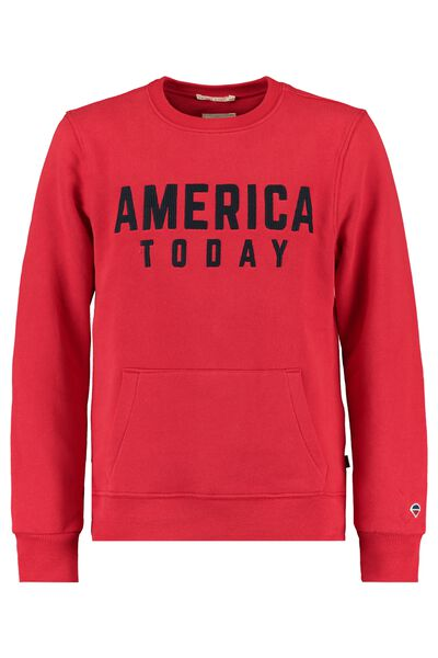 Sweater with embroidered America Today text