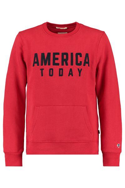 Sweatshirt mit America Today Stickerei