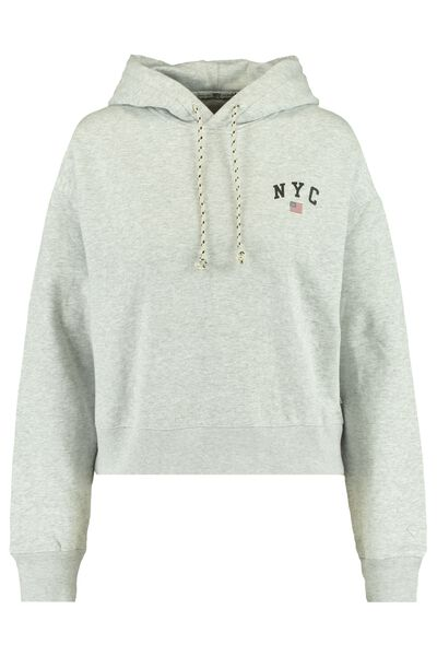 Hoodie with NYC text print