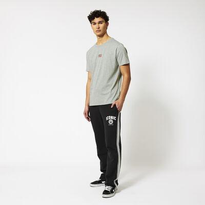 Jogging pants wide legs side stripe