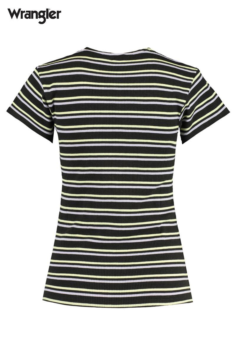 T-shirt Slim stripe - Faded black