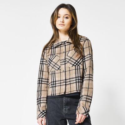 Jacket with plaid print