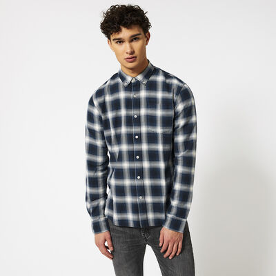 Shirt with all-over plaid design