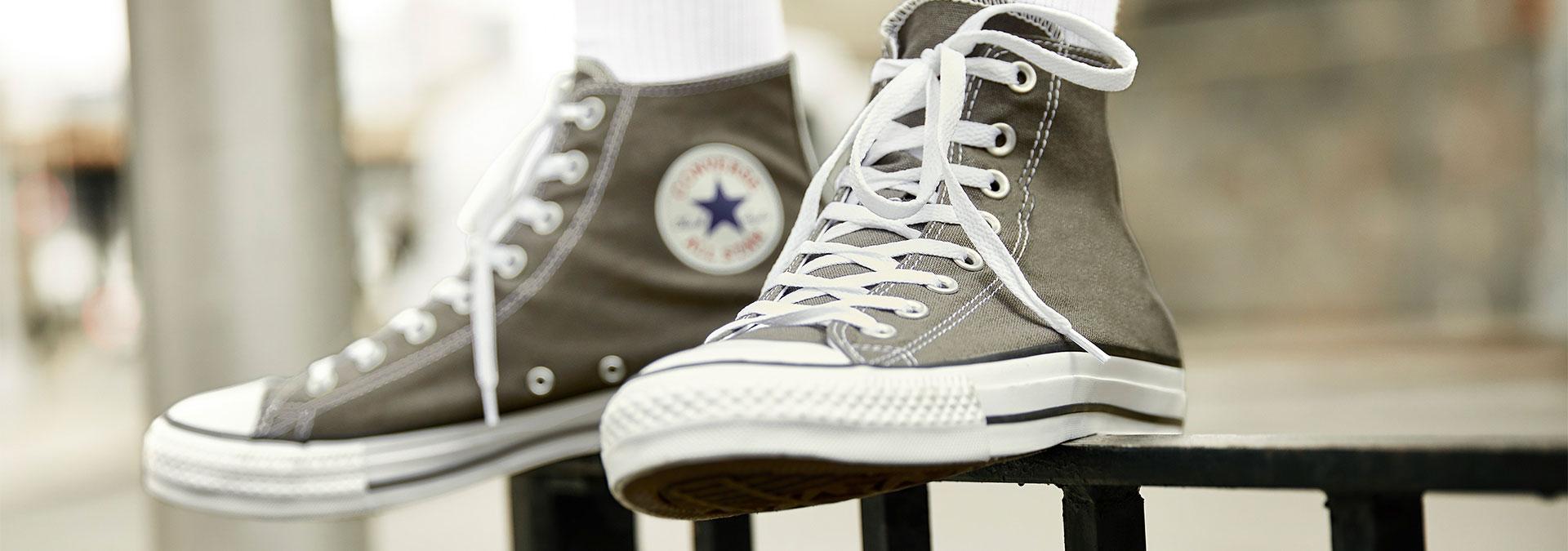 converse schoenen in wasmachine