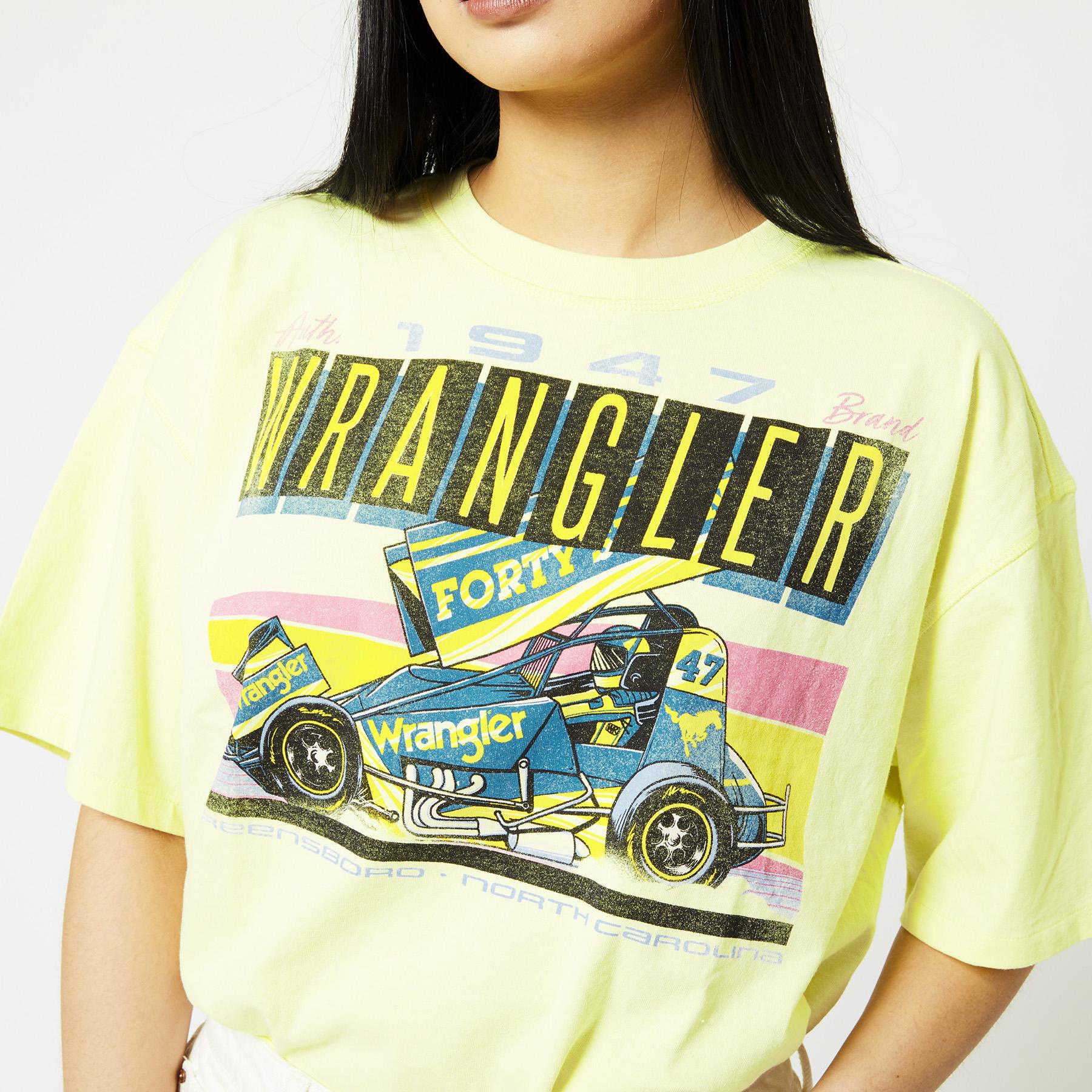 T-shirt Boxy tee - wax yellow