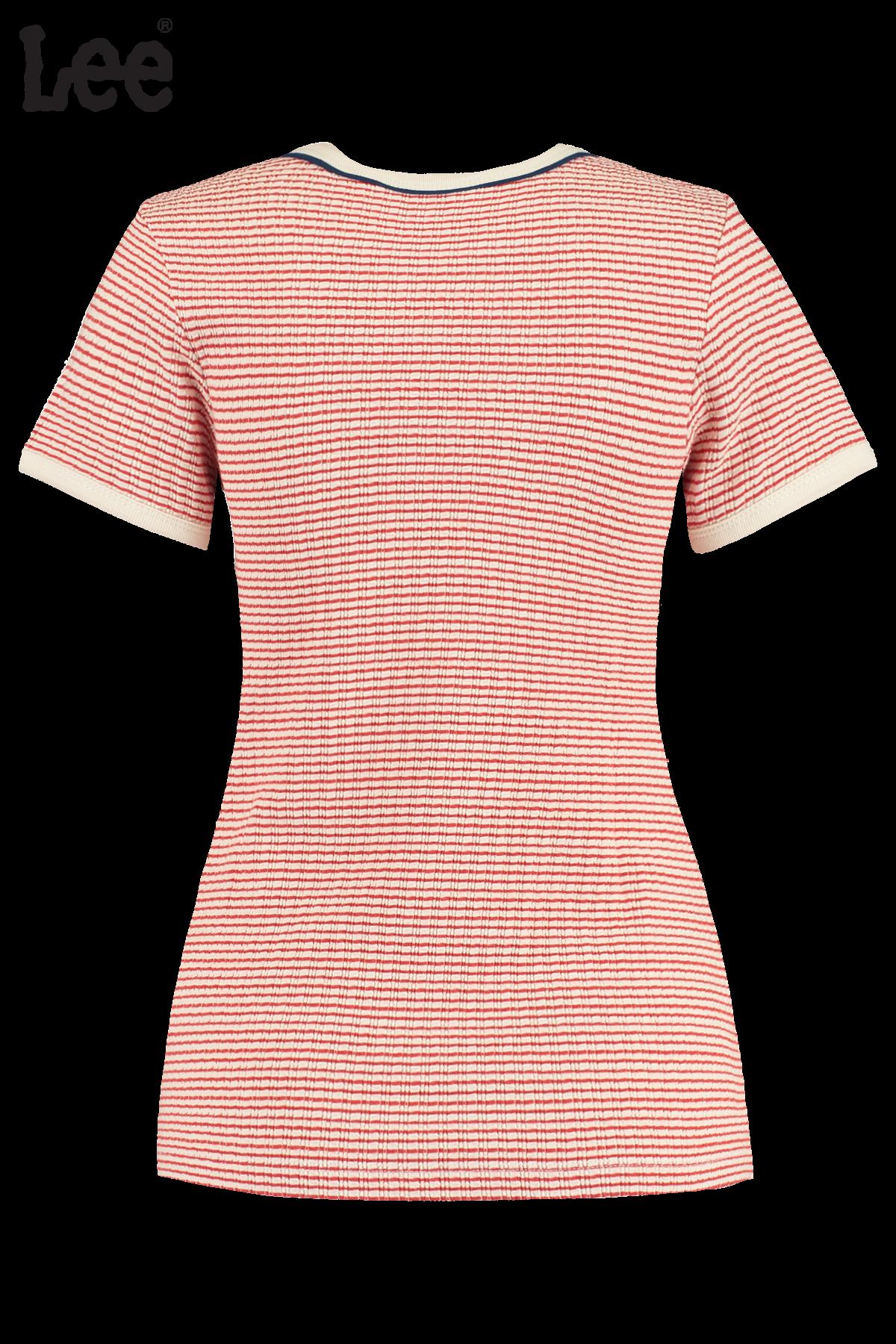 T-shirt Striped Rib Tee Red