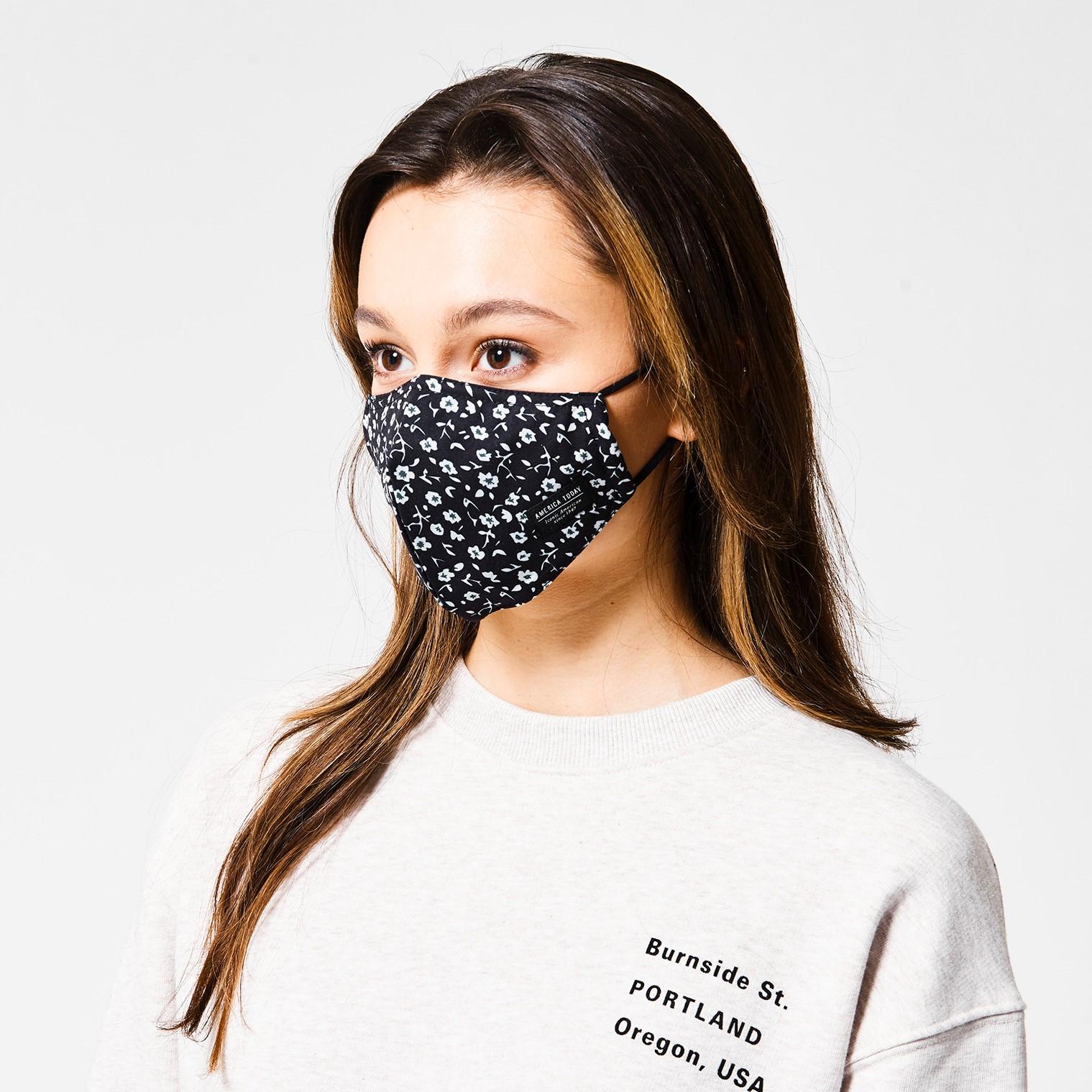 Schutzmaske Face Mask Flower