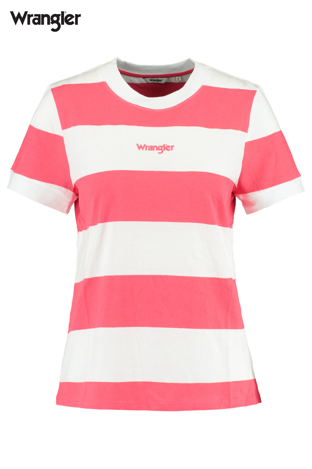 T-shirt Striped high rib regular