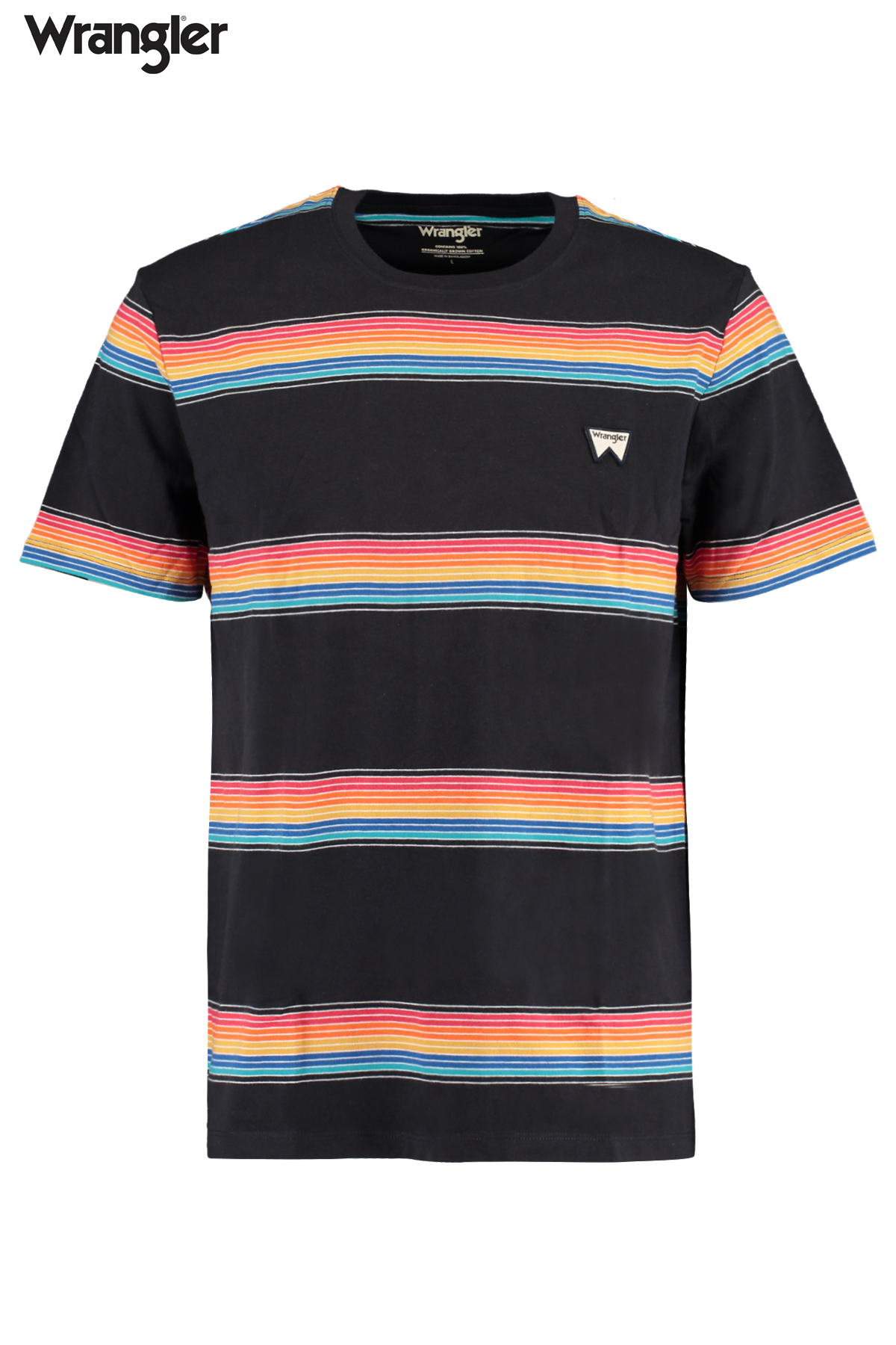 Short sleeve rainbow tee